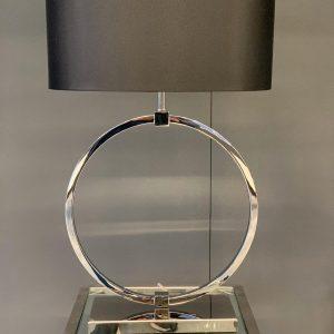 Ronde tafellamp Zenza zilver