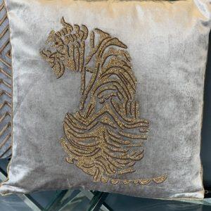 vierkant kussen met tijger