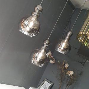 pinto nero hanglamp met 3 kelken