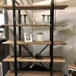 wandkast rixos zwart frame met sleeperwood