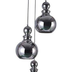 pinto nero hanglamp met 3 kelken op een rvs plaat