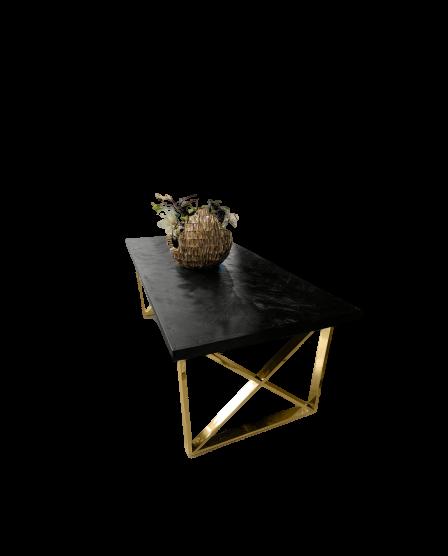 zwarte visgraat bonita met gouden poten