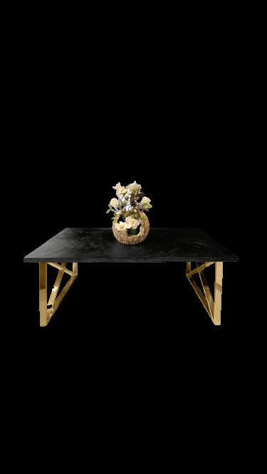 bonita zwart visgraat gouden kruispoten