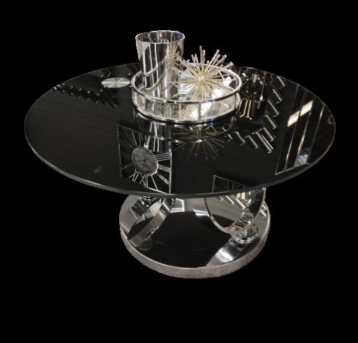 sola zwarte glasplaten salontafelset