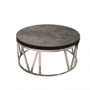Salontafel Bonita is de nieuwste aanwinst in onze Bonita collectie. Deze ronde salontafel is gemaakt van RVS frame met een mango hout visgraat tafelblad.