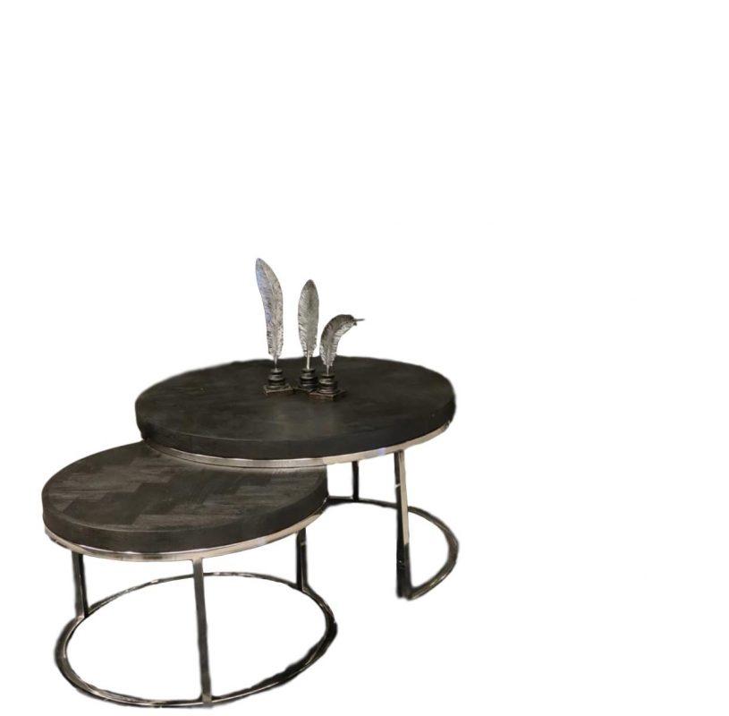 Mooie salontafel set Doblo Bonita is een veelzijdig salontafel die je gemakkelijk uit elkaar halen voor als je iets meer ruimte nodig hebt bv wanneer je visite ontvangt. De doblo Bonita tafelblad is gemaakt van duurzaam mango hout en is mooi afgewerkt met een visgraat motief.