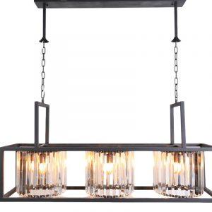 Azamar chandelier is een moderne variant van de kroonluchter die dient als een ware eyecatcher. De Azamar is gemaakt van echt kristalen en verlicht door lampen wat deze hanglamp een schitterende sfeermaker in huis maakt. De hanglamp heeft 9 E-14 fittingen waardoor er ook goed direct licht is. Een luxe hanglamp voor in de woonkamer of voor boven een eettafel, gemaakt van zeer hoogwaardige materialen. Update uw bestaande interieur met de Azamar chandelier, een echt hoogtepunt dat in elke moderne of klassieke inrichtingsstijl kan worden geïntegreerd. Combineer deze ook ook Azamar klein voor meer speelse effect in de ruimte. Extra informatie: - Afmeting 120x30x110cm - 9 x E14 fittingen - Ketting is verstelbaar - Artikel is dimbaar (niet meegeleverd)