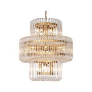 Houd je van een klassiek-chique stijl? Haal dan deze grote eye catcherhanglamp Lanain huis. De hanglamp Lana van geborsteld verguld metaal en met glazen buizen is hét symbool van elegantie. Combineer hem met een hedendaags interieur voor een trendy accent. Ook verkrijgbaar in kleine afmeting. Extra informatie: - Afmeting 80x80x86cm - E14 fittingen - artikel is dimbaar (niet meegeleverd) - ketting is in te korten.