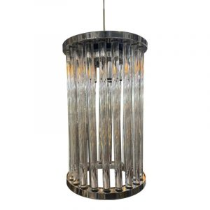 Luna is een prachtige hanglamp met glazen buizen dat toch design geeft aan je interieur. Schitterende hanglamp voor boven de eettafel met veel licht, sluit hem aan op de dimmer en ervaar de schoonheid van de Luna. Extra informatie: - Afmeting 105x10x100cm hoogte - Hoogte instelbaar (max 100cm) - Glazen zijn 25 cm hoog en 15 cm dia - 25 x 12v G4 led lampen - Artikel dimbaar (niet meegeleverd)